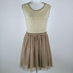 Anthropologie  tulle skirted dress size M